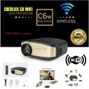 Mini Proyektor Cheerlux C6 Wireless / Projector WIFI 1200 Lumens Support TV