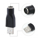 Converter USB 2.0 A Male To PS/2 Female