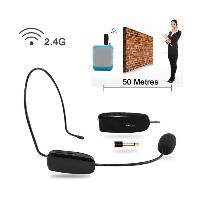 Mic Headset Generasi Terbaru telah hadir dengan 2.4G Wireless Mic for Loudspeaker.