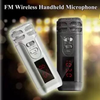 Mini Genggam Kondensor FM Nirkabel Mikrofon Mic W